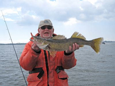A walleye caught while fishing