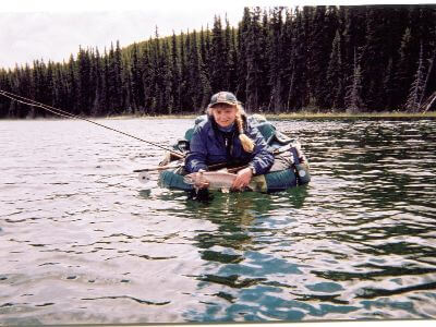 Lake fishing in Fir Lake, British Columbia