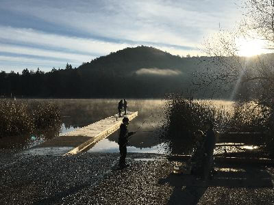 Lake fishing in Santa Rosa, California