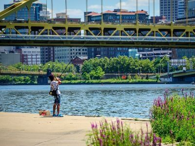 River fishing in allegheny river