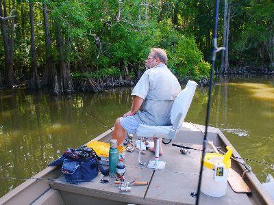 River fishing in trinity river