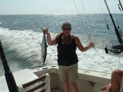 A fish caught in the Atlantic Ocean